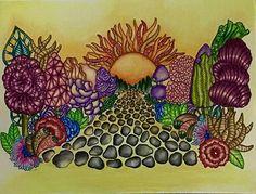 Color along with @nuralialim ......Even i'm not feeling good but i managed to finish it! Medium. :  FC Polychromos Book. :  Exotic Kingdom by #martywoodskk #exotickingdom