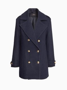 New Look Military Longline Coat In Blue