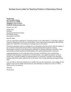 13 Best Teacher Cover Letters Images Cover Letter For Resume