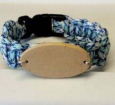 "7"" Blue Multi Color Black Buckle"