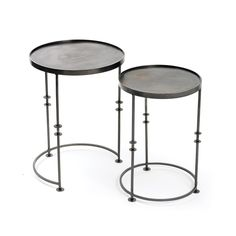 Disc End Tables | Laura Ramsey Furniture & Interiors. #lauraramseyinteriors #interior #design #home #decor #tables #metal #nesting #end #furniture #round
