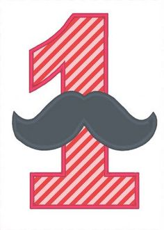 All Designs :: 2015 Design Sale :: Mustache Numbers