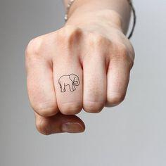 Tiny Elephant Temporary Tattoo (Set of 2)