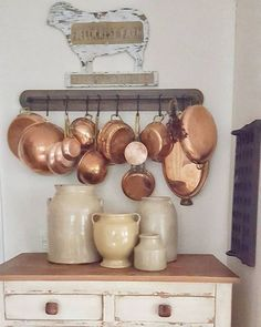 Big Kitchen, French Kitchen, Country Kitchen, Vintage Kitchen, Kitchen Design, Kitchen Decor, Vintage Modern, Retro Vintage, Copper Decor