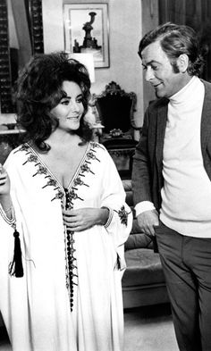 Elizabeth Taylor And Michael Caine In 'X, Y And Zee', 1972