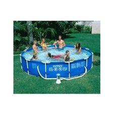 Unique Intex u x Metal Frame Above Ground Swimmming Pool w Filter Pump