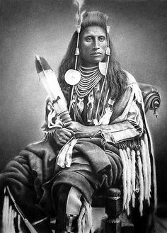 https://flic.kr/p/qxHYs | Medicine Crow | Drawn in charcoal. As a youth of fifteen, Medicine Crow went on his first war party. In the next nineteen years, he led a vigorous and often dangerous life of a Plains Indian warrior. For twelve of those years he was a war chief noted for his agility in hand-to-hand combat, courage, and dependability in bringing his men back home not only safely but victorious.