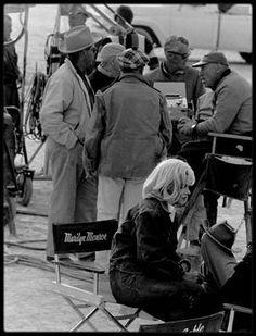 """1960 / Les RARES de Marilyn sur le tournage du film """"The misfits"""", photos de l'Agence """"Magnum""""."""