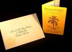 MINI Passport Invitations - Vintage Palm