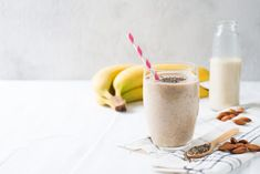 Try this delicious Banana Almond Milk Smoothie Recipe! For an added bonus. Add 1 scoop of Vanilla or Chocolate Livingood Daily Collagen Protein Powder! Almond Butter Snacks, Almond Milk Smoothie Recipes, Vegan Protein Powder, Superfood Powder, Matcha Smoothie, Strawberry Smoothie, Whole Food Recipes, Snack Recipes, Keto Recipes