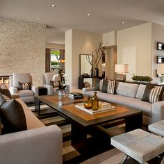 Lincoln Place by Ownby Design (Houzz). Even though it's VERY neutral I like it...color people color!