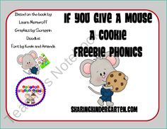 If You Give a Mouse a Cookie FREEBIE  Phonics activity with oo & ook words... Also other activities... POSSIBLE IDEA FOR WORK ON WORDS IN DAILY 5
