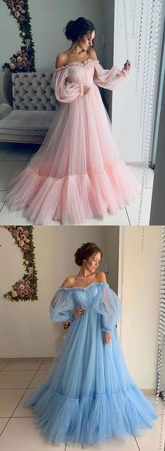 Stylish Tulle Long Prom Dress, Long Sleeve Evening Dress on Luulla Best Picture For Evening Dress long For Your Taste You are looking for something, and it is going to tell you exactly what you Long Sleeve Evening Dresses, Prom Dresses Long With Sleeves, Prom Dresses Long Modest, Vintage Evening Dresses, Baby Pink Prom Dresses, Pink Long Sleeve Dress, Short Lace Wedding Dress, Wedding Dresses, Pretty Dresses