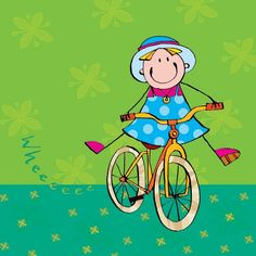 Illustrations, Illustration Art, Kids Graphics, Cartoon Painting, Bicycle Art, Happy Paintings, Whimsical Art, Doodles, Cute