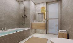 3D Bathroom Architecture Renders. Alcove, Bathtub, 3d, Bathroom, Architecture, Home, Standing Bath, Washroom, Arquitetura