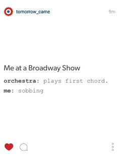 Me at a broadway show