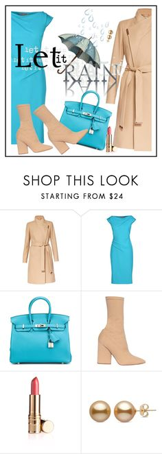 """""""happy rain"""" by sandevapetq ❤ liked on Polyvore featuring Ted Baker, La Petite Robe di Chiara Boni and Yeezy by Kanye West"""