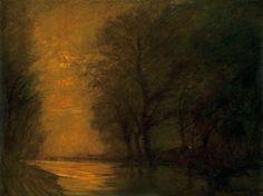 László Mednyánszky (Hungarian, 1852-1919), Twilight. Oil on canvas. 151 x 200cm.