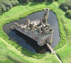 Caerlaverock Castle, on the southern coast of Scotland, 11 kilometres south of Dumfries, on the edge of the Caerlaverock National Nature Reserve.
