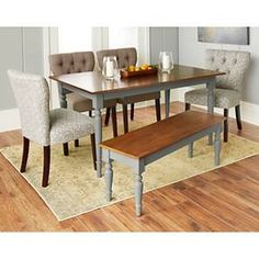 Isabella Wood Top Dining Table
