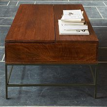 Rustic Storage Coffee Table - Café