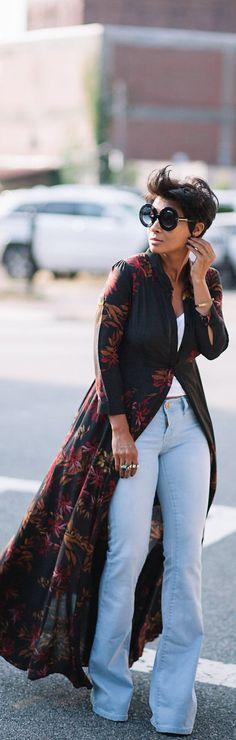 Flare jeans With A Pop / Fashion By Kryzayda