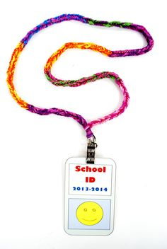 Rainbow Loom Stretch Band Badge Lanyard - #MichaelsRainbowLoom
