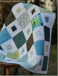square in square quilt pattern