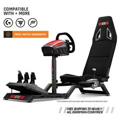 Next Level Racing Challenger Racing Simulator Cockpit Racing Simulator, Minimalist Design, Race Cars, Gaming, Ruffles, Chairs, Drag Race Cars, Minimal Design, Videogames