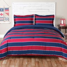 Teen Boy, Full/Queen Comforter Set (Tommy Hilfiger Sebastian) Navy/Red/Blue