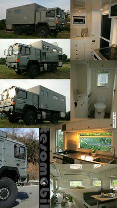 66 Ideas ford truck camper vehicles for 2019 Overland Truck, Overland Trailer, Expedition Vehicle, Camper Caravan, Diy Camper, Truck Camper, 4x4 Trucks, Diesel Trucks, Man Kat