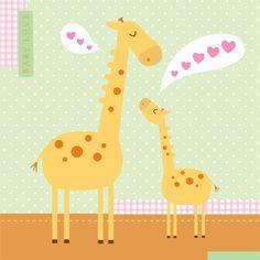 Giraffe love | Nina Seven