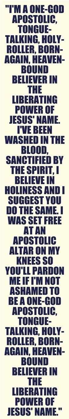 Pardon me if I'm not ashamed!