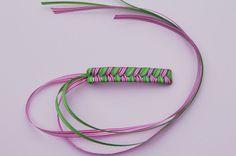 80s Braided Ribbon Barrette Tutorial