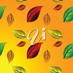 autumn leaves bakground, abstract vector art illustration