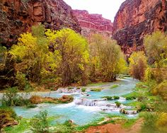 Havasu Falls in Havasupai; Grand Canyon, Arizona