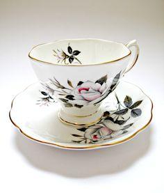 Vintage Bone China Royal Albert Tea Cup and Saucer, Rose Design. £5.00, via Etsy.
