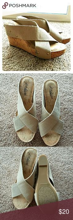 NWOT Lucky Brand Wedges These have never been worn! The canvas is super stretchy making them extremely comfortable! Lucky Brand Shoes Wedges