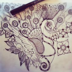 Sophie Speke Tattoo Flash...Makes me think of the stuff I doodle and Zentangle...maybe I should think about designing tattoos!