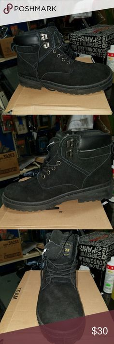 Black work boots Brand new mens black work boots! Never been worn before. Shoes Boots