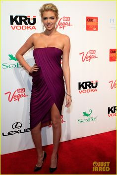 Kate Upton.Love the dress and the color!