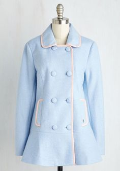 CUTE! 1960s style coat. Cherish the Thought Coat $169.99 AT vintagedancer.com