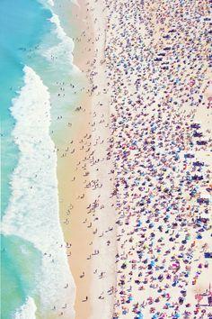 A little crowded at Copacabana Beach
