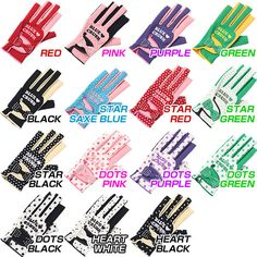 A golf glove in every color. Golf N Stuff, Lpga Golf, Mens Golf Outfit, Blue Crush, Green Dot, Golf Clothing, Red Purple, Glove, Golf Courses