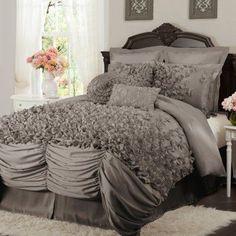 Lush Decor Lucia 4 pc. Comforter Set Gray - C05255P12