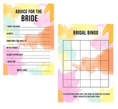 This printable games pack is perfect for a bridal shower / hen party or bachelorette party! Not only do they have a beautiful watercolour design but there are s