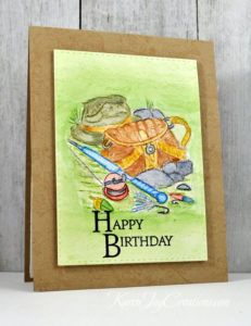 Stampin' Up Angler and Papertrey Ink Inside and Out Birthday Masculine Handmade Birthday Card