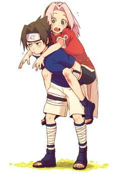 Read Sasuke & Sakura from the story Naruto Memes \ Imágenes by ArySac (*ೃ◯Arᥡ꒱((🌼))) with reads. Naruto Uzumaki, Anime Naruto, Naruto Fan Art, Naruto Cute, Manga Anime, Naruhina, Sasuke Sarutobi, Narusaku, Shikamaru