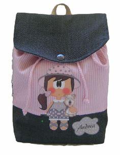 Mochila niña personalizada Www.milunaropainfantil.com #bebes #vueltaalcole