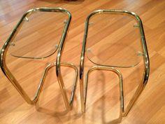 Little brass tables $15
